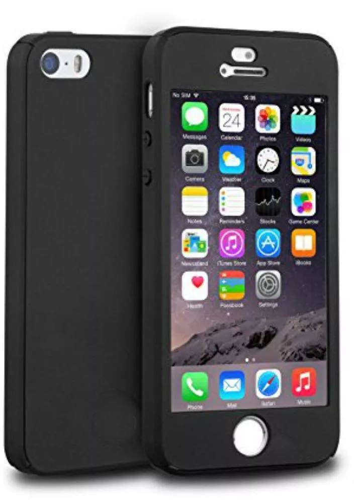 Cover Frontback For Apple Iphone 5 Black