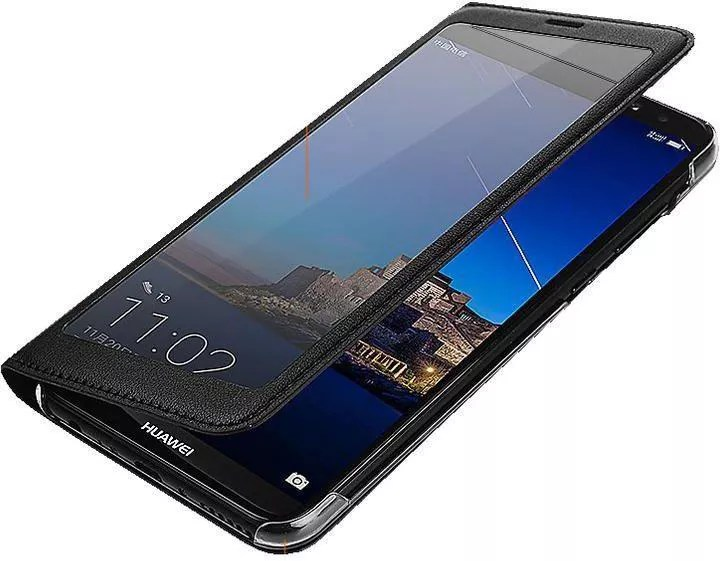 Smart Flip Cover For Huawei Mate 20 Lite Black