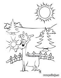 Rodolfo el reno para colorear