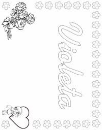 Dibujos De Nombres Propios Para Colorear Nombre Para