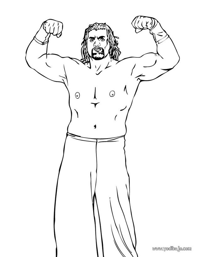 Dibujos Para Colorear Luchador Great Khali
