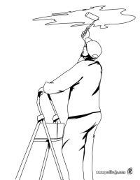 Profesiones y oficios para colorear pintor - Imagui