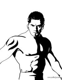 Dibujos para colorear retrato del luchador batista - es ...
