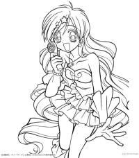 Dibujos para colorear hanon sirena (mermaid melody)