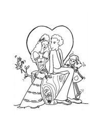 Dibujos para colorear los novios enamorados - es.hellokids.com