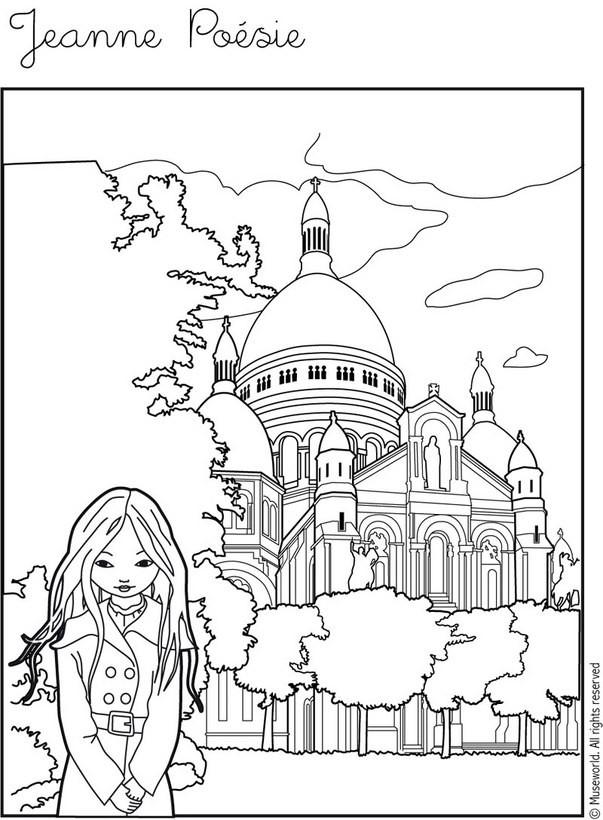 Dibujos Para Colorear Jeanne Poesie Montmartre