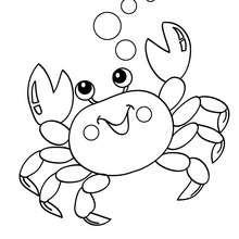 Dibujos LA SIRENITA para colorear, Sebastián el cangrejo