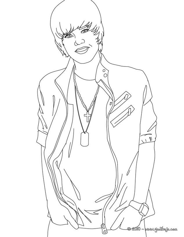 Dibujos Para Colorear Justin Bieber Sentado
