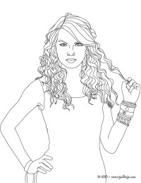 Big Curly Hair Coloring Coloring Pages