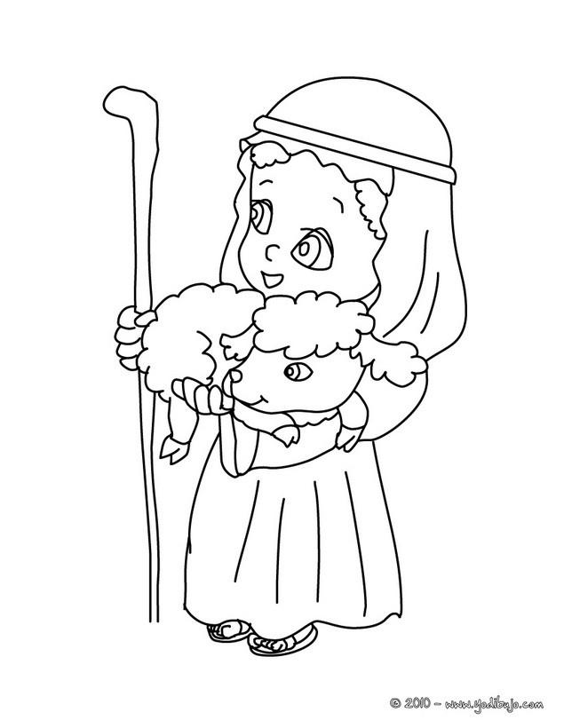 Maestra de Infantil: Pastores de Navidad para colorear