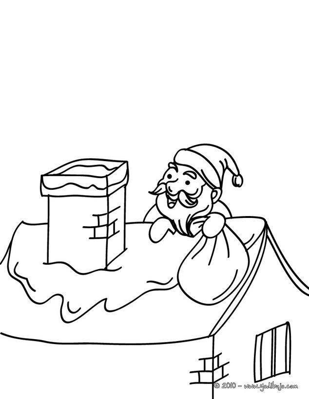 Dibujos Para Colorear Papa Noel Esquiando