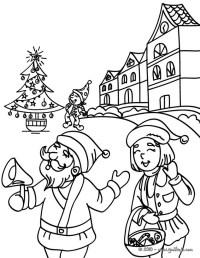 Dibujos para colorear santa claus en su pueblo - es ...