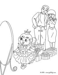Dibujos para colorear navidad en familia - es.hellokids.com