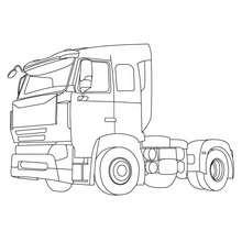 Kleurplaat Scania V8 LKW Ausmalbilder Malvorlagen Von