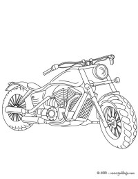 Dibujos para colorear harley davidson