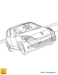 Dibujos para colorear el nuevo coche renault scenic - es ...