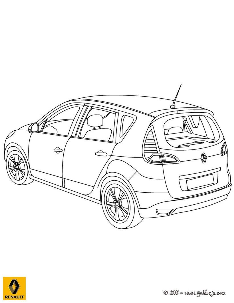 Dibujos para colorear maletero del nuevo scenic renault