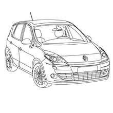 Dibujos para colorear el interior del coche scenic renault