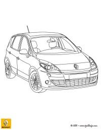 Dibujos para colorear coche renault scenic - es.hellokids.com