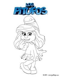 Dibujos para colorear pitufina - es.hellokids.com