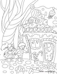 Dibujos para colorear cuento hansel y gretel - es ...