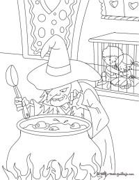Dibujos para colorear hansel y gretel