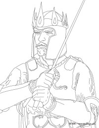 Dibujos para colorear rey arturo - es.hellokids.com