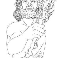 Dibujos para colorear dios zeus , rey de los dioses