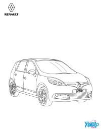 Dibujos para colorear gama scnic de renault - es ...