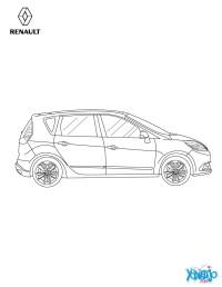 Dibujos para colorear nuevo scnic 2013 de perfil - es ...