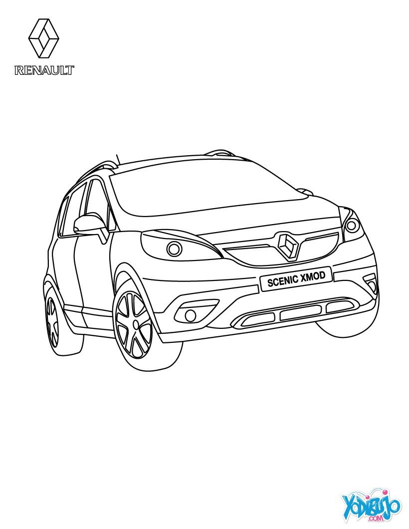 Dibujos para colorear gama coche familiar renault scénic