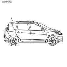 Dibujos para colorear coche scénic authentique de perfil