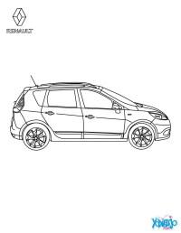 Dibujos para colorear coche scnic authentique de perfil ...