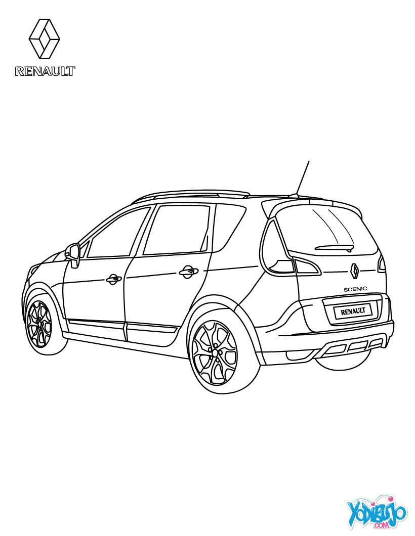 Dibujos para colorear coche renault scénic authentique