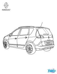 Dibujos para colorear coche renault scnic authentique ...