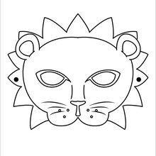 Máscara : Manualidades para niños, Dibujos para Colorear