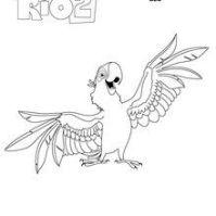 Dibujos de RIO 2 para colorear - 7 laminas de para pintar ...