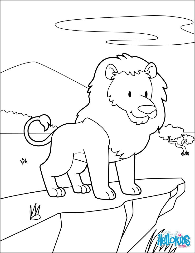 Dibujos Para Colorear Rey Leon