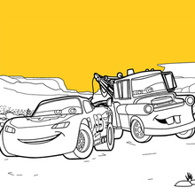 Cars Coloring Pages Francesco And Mcqueen  Dessincoloriage