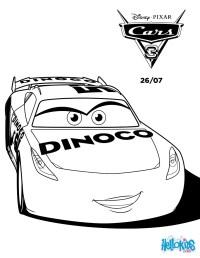 Dibujos para colorear cars 3 cruz ramirez dinoco