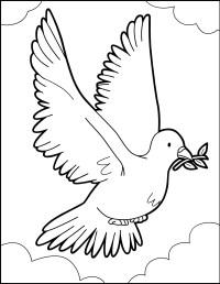 Dibujos para colorear el vuelo de la paloma de paz - es ...