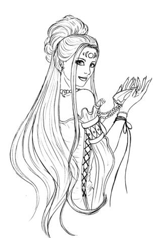 Aphrodite Greek Goddess Sketch Sketch Coloring Page
