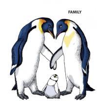 Dibujos para colorear familia