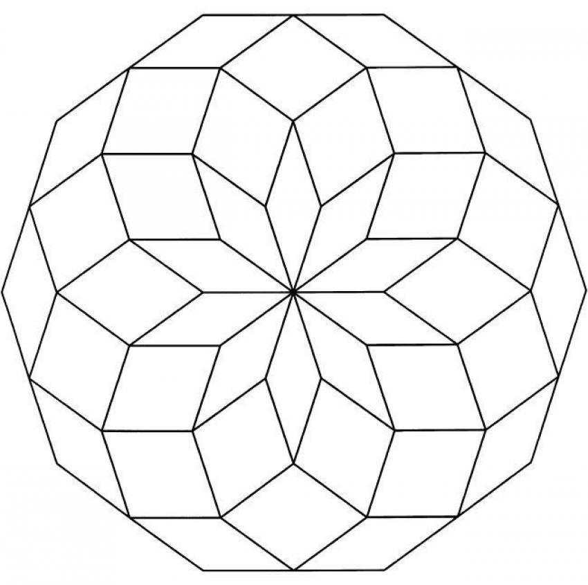 Mandalas De Figuras Geometricas Circulos 16