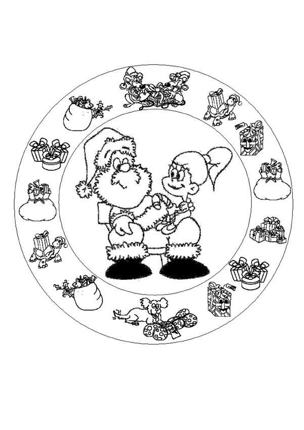 Dibujo Bota De Papa Noel