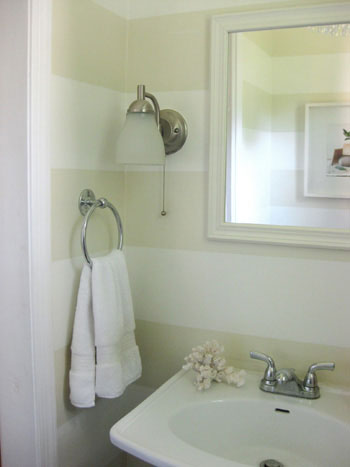 How To Paint Bathroom Stripes
