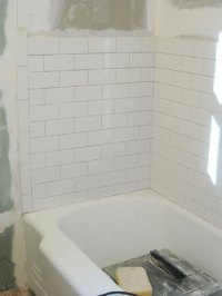 How To Install Subway Tile In A Shower & Marble Floor ...