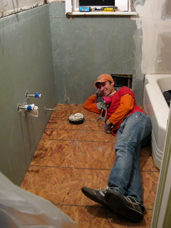 Hanging Cement Board Drywall  Fixing The Subfloor