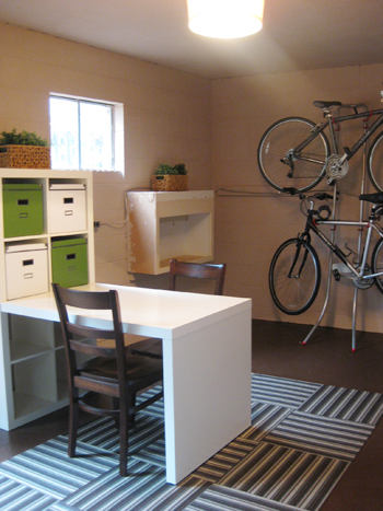 Basement Update Hanging Our Bikes And Adding A Shade