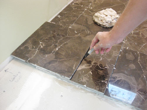 cutting bathroom tile how to install subway tile in a shower amp marble floor 12613